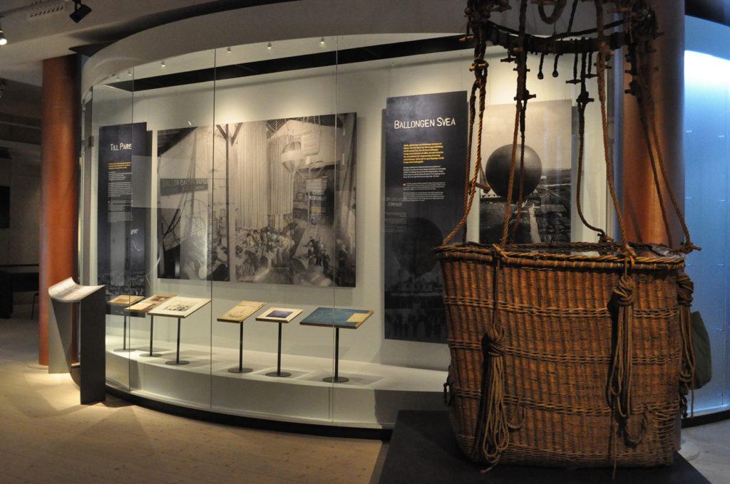 Utställning i Grenna Museum om Andrées polarexpedition, ballongkorgen till ballongen Örnen finns här