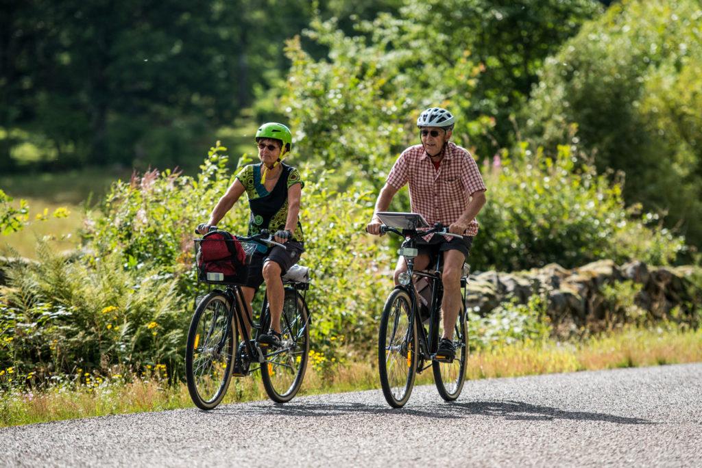 Par cyklar Utvandrarleden i Småland