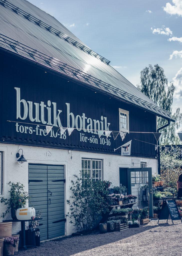 Fasade på Butik Botanik i Småland
